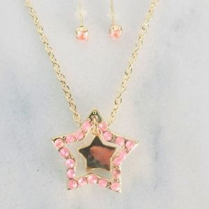 Jewelry - ❤ 4 for $25 ❤ #995 Gold Star Set Necklace Pink
